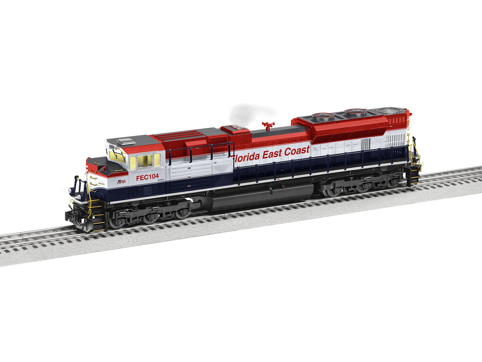 Lionel 2033201 O EMD SD70M-2 3-Rail Legacy Sound and Control Florida East Coast 104 434-2033201