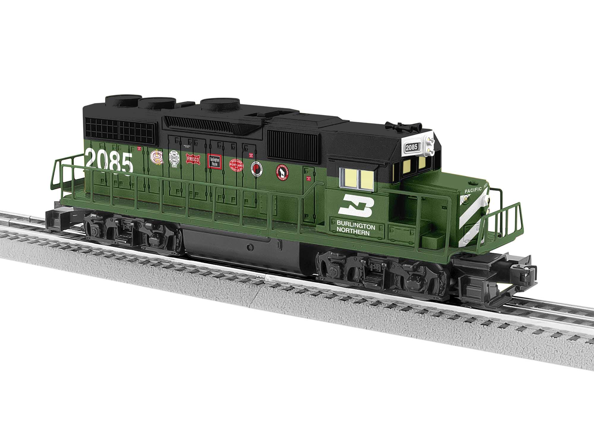 Lionel 2034190 O GP38 LionChief Burlington Northern BN #2085