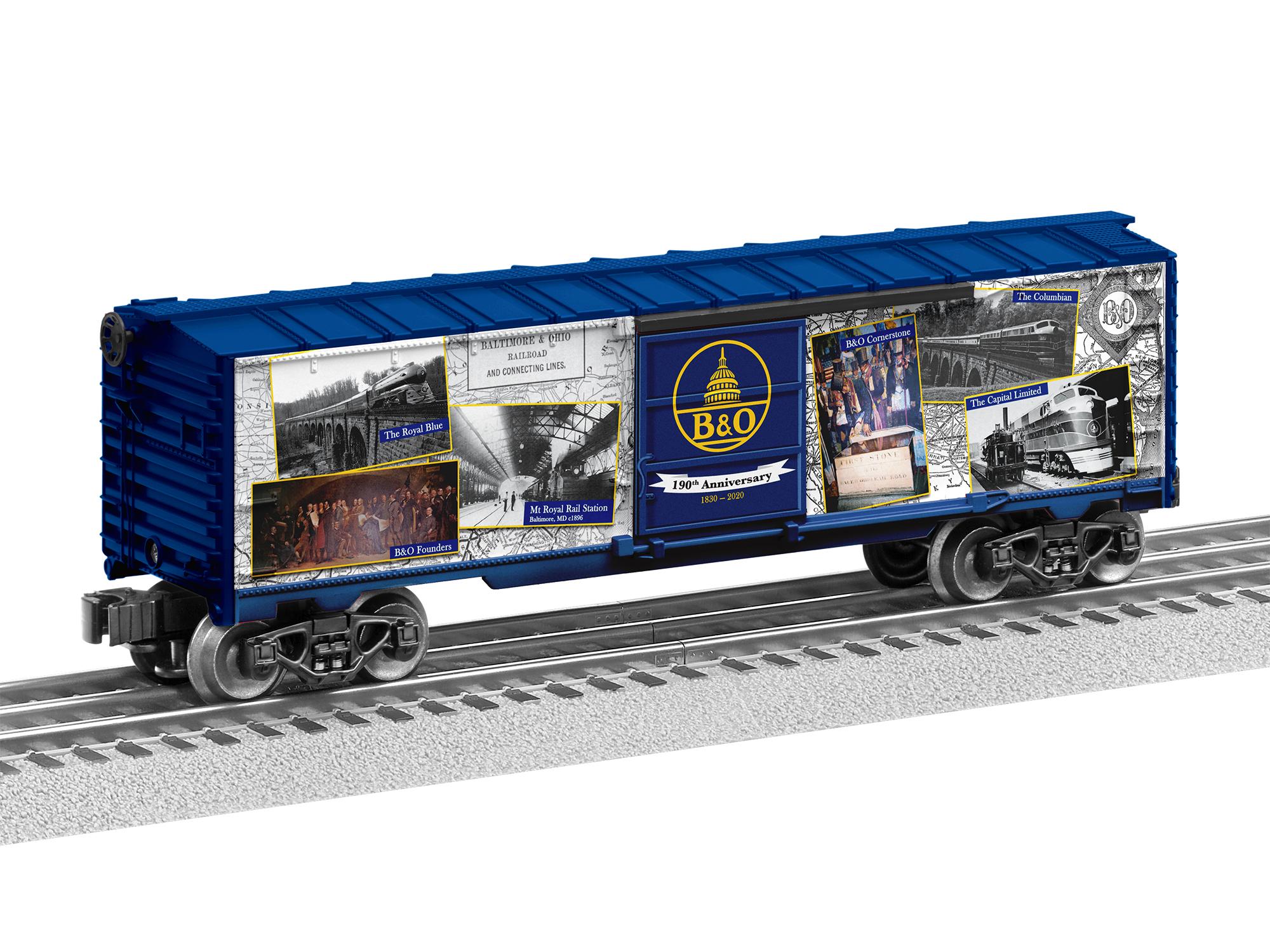 Lionel 2038010 O Boxcar 3-Rail RTR Baltimore & Ohio Museum 190th Anniversary 434-2038010