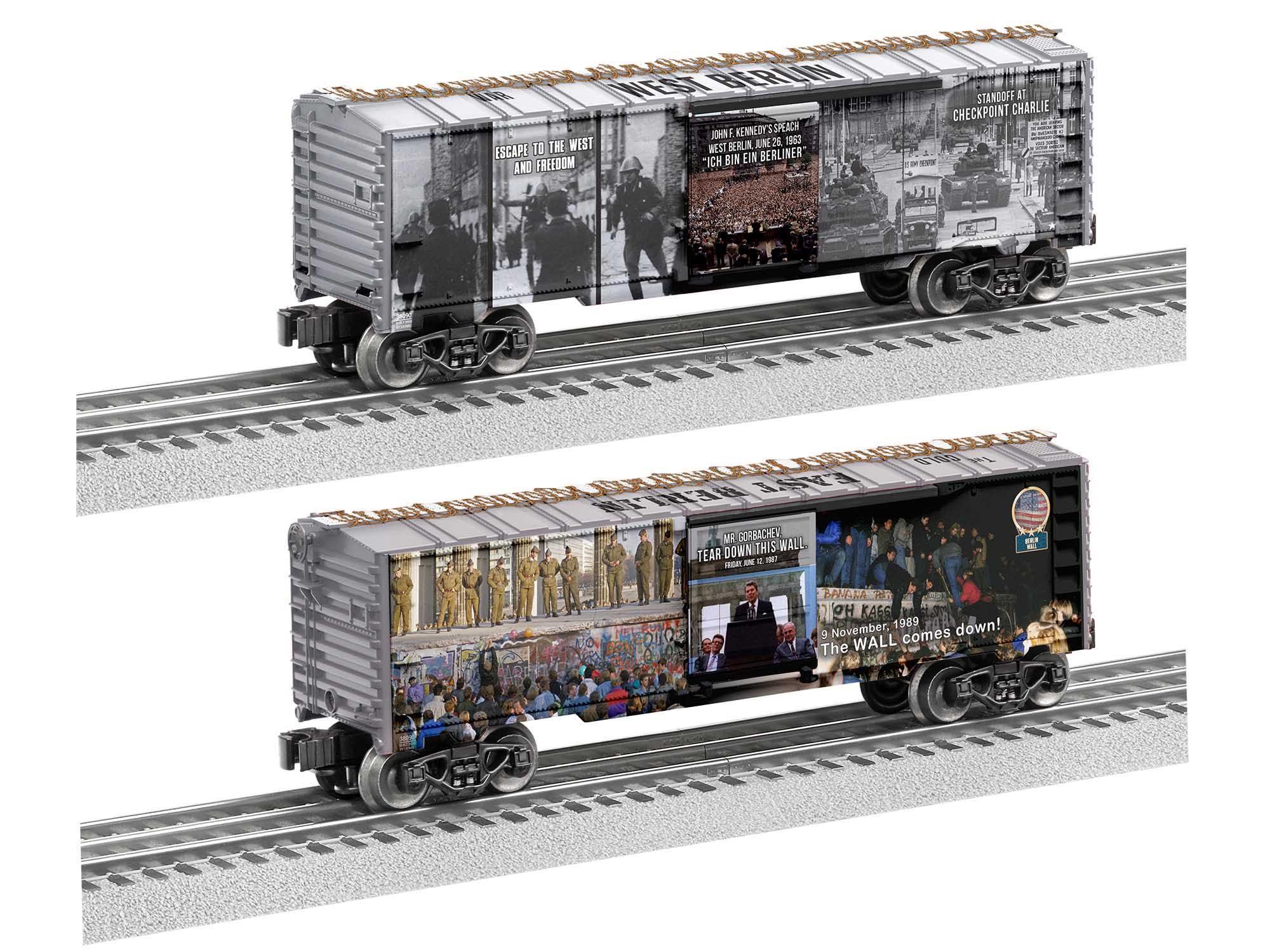Lionel 2038080 O27 Boxcar Berlin Wall MUSA