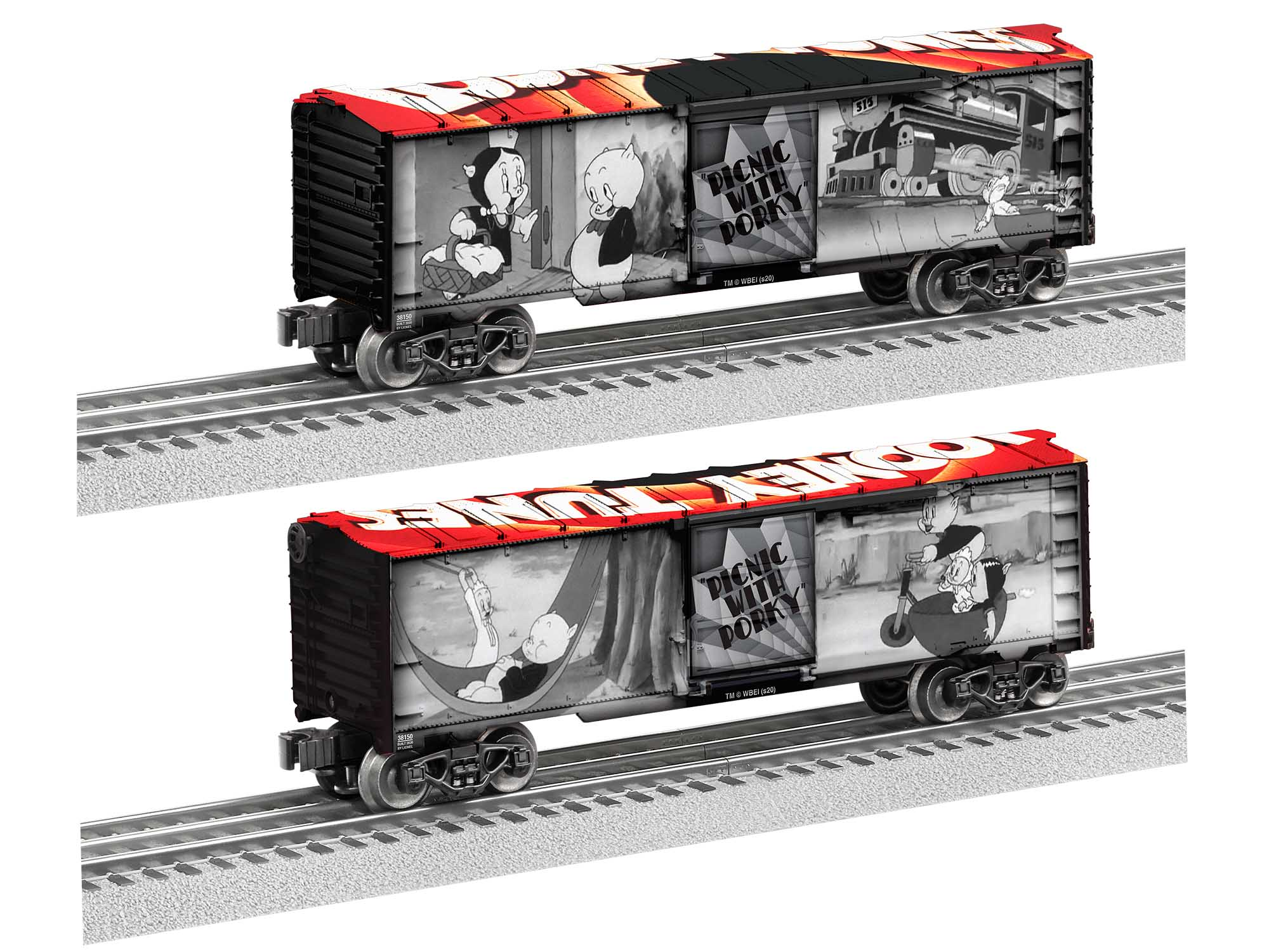 Lionel 2038160 O27 Boxcar Picnic with Porky