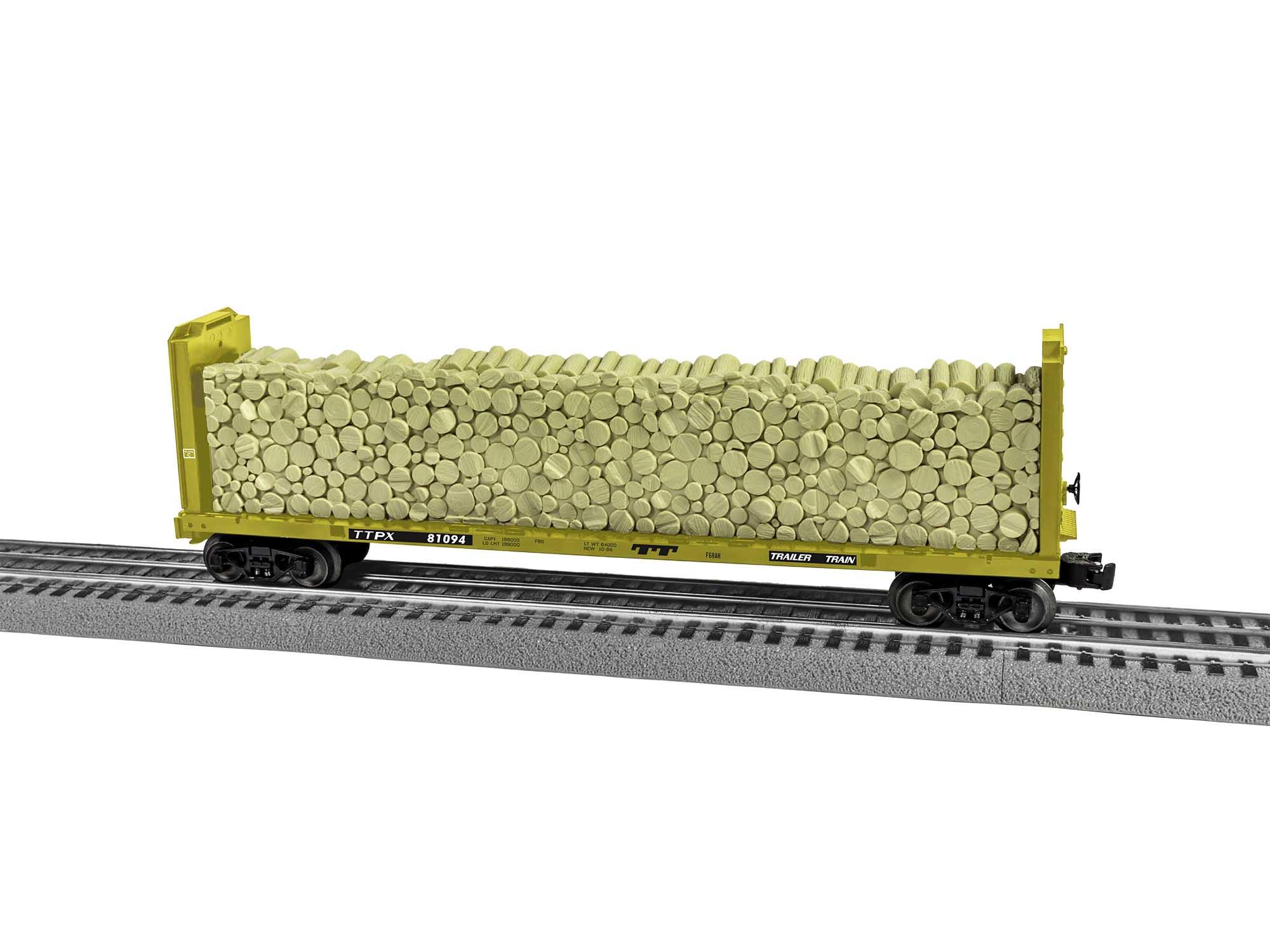 Lionel 2043122 O Bulkhead Flatcars Trailer Train TT #81094