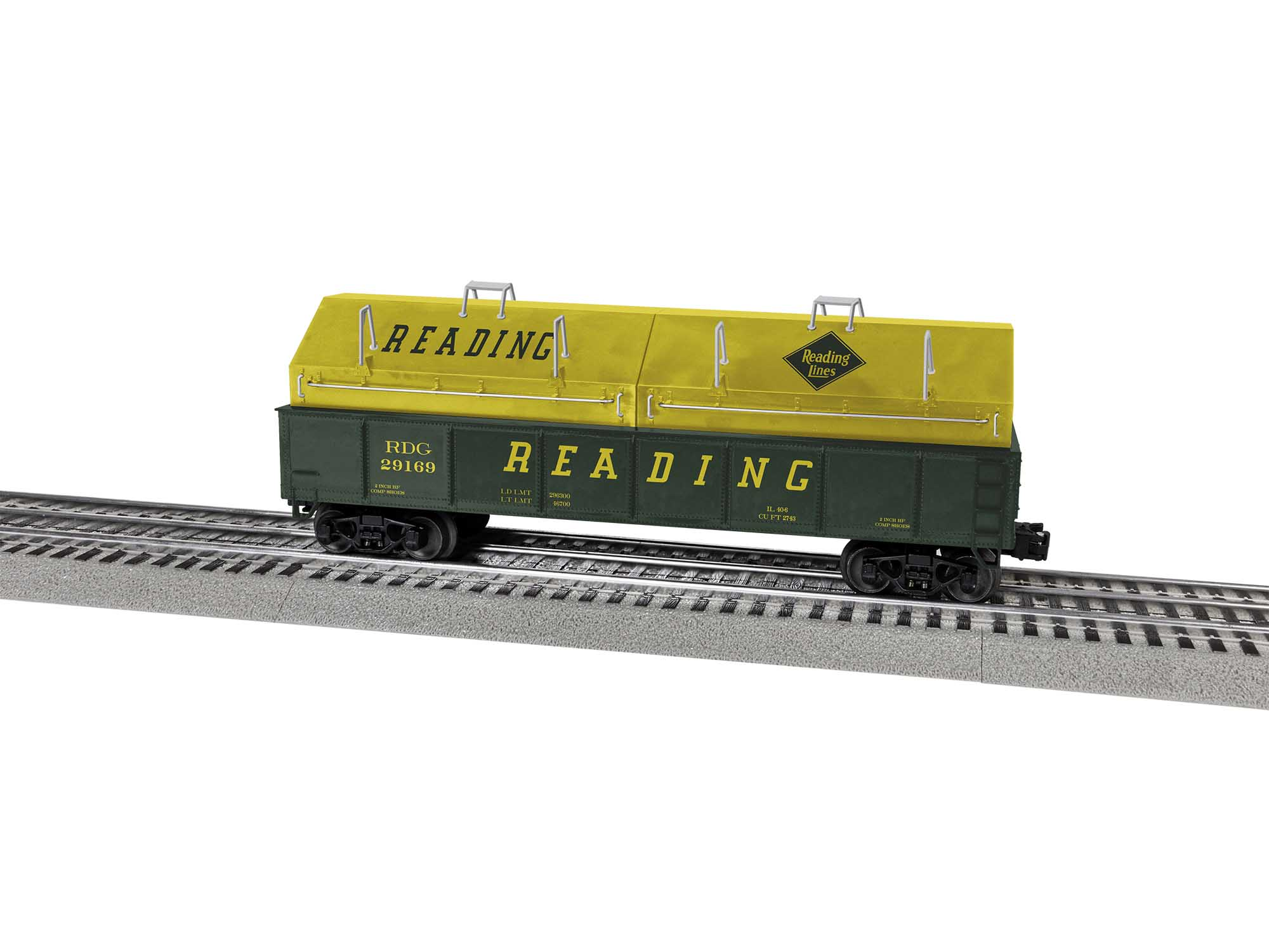Lionel 2043163 O Gondola Reading RDG #29169