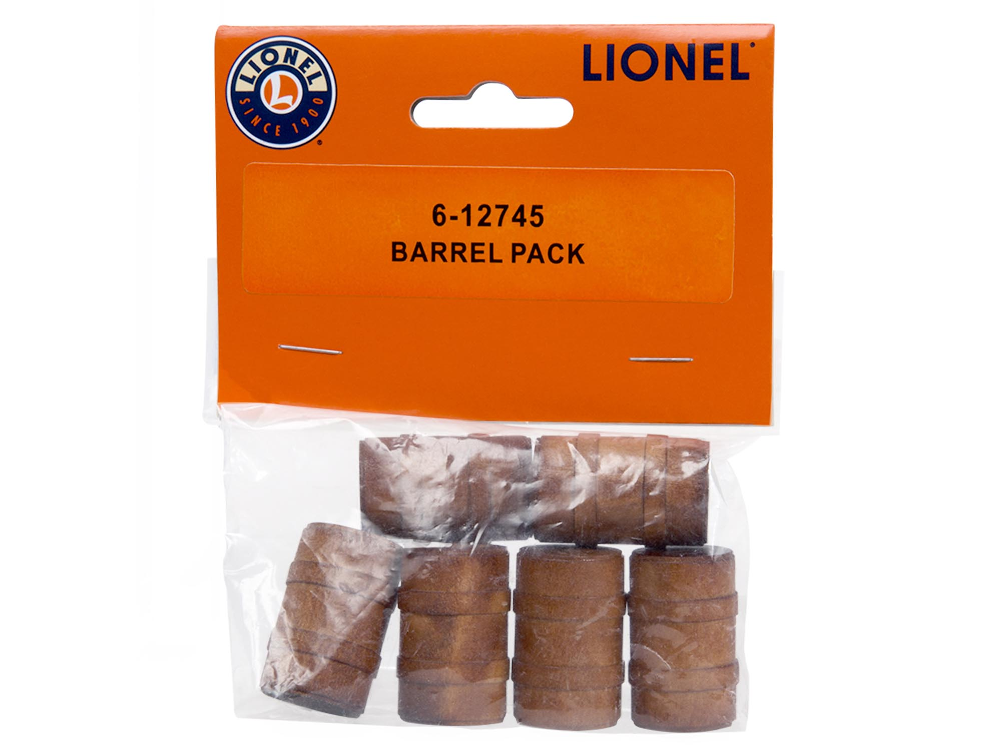 Lionel 612745 O Wood Barrel Pack 6