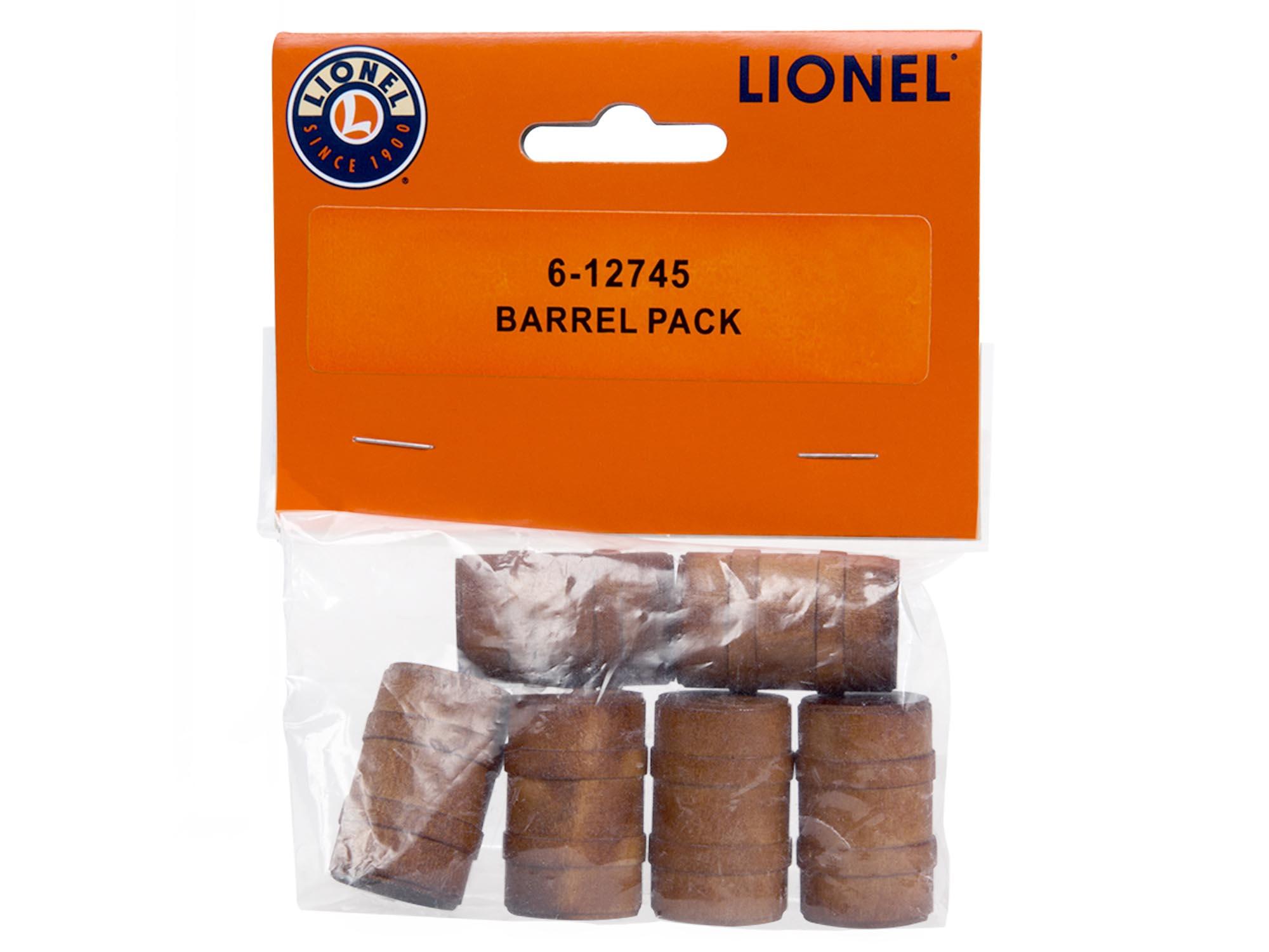 Lionel 612745 O Wood Barrel Pack 6
