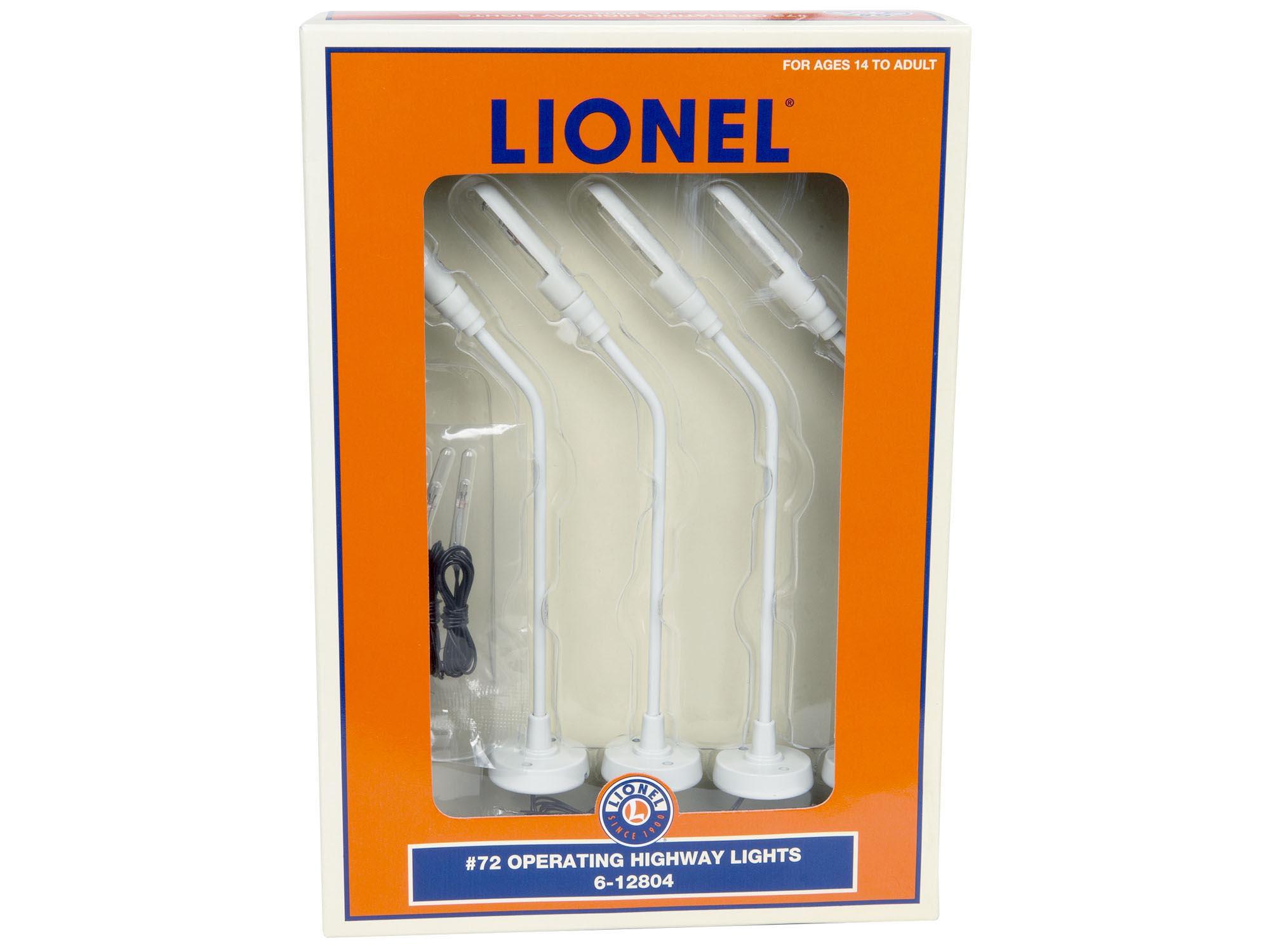 Lionel 6-12804 Lionel #72 Operating Highway Lights O 027 New 2013 set of 4