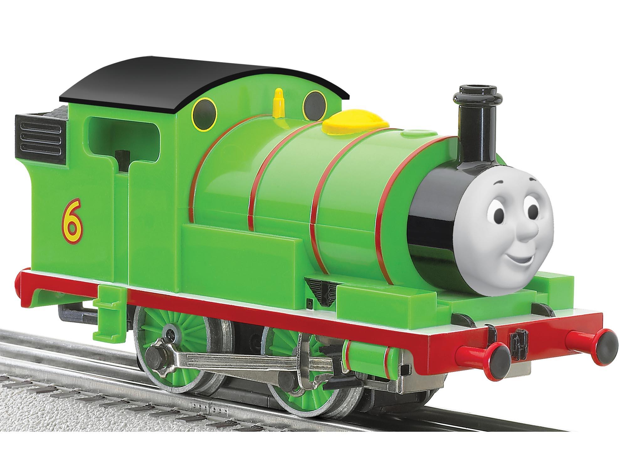 Thomas Friends Percy Steam Locomotive With LionChief Remote System