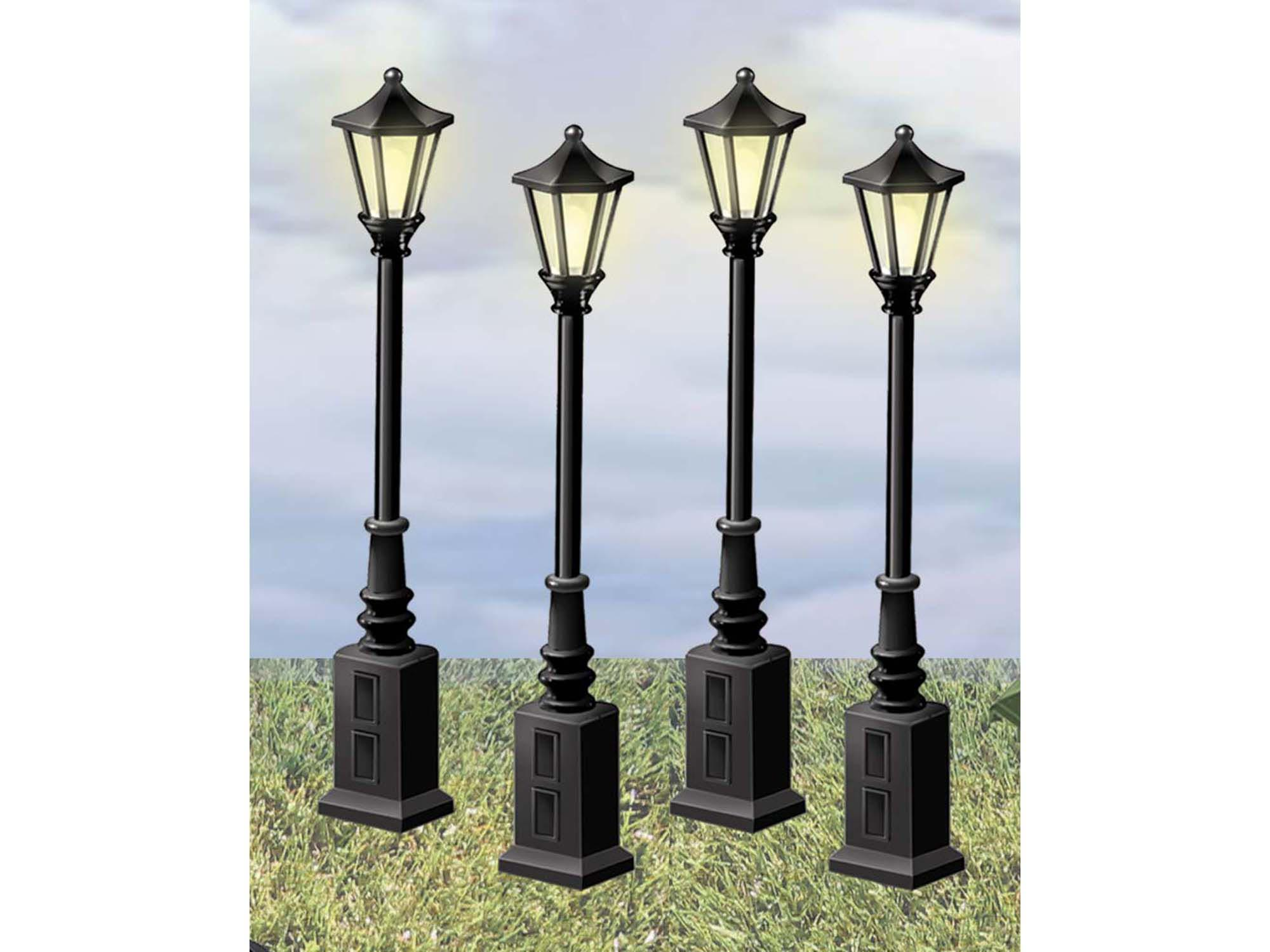 scale street lamps rh lionel com Lionel Train Lantern Lionel Metal Light Poles