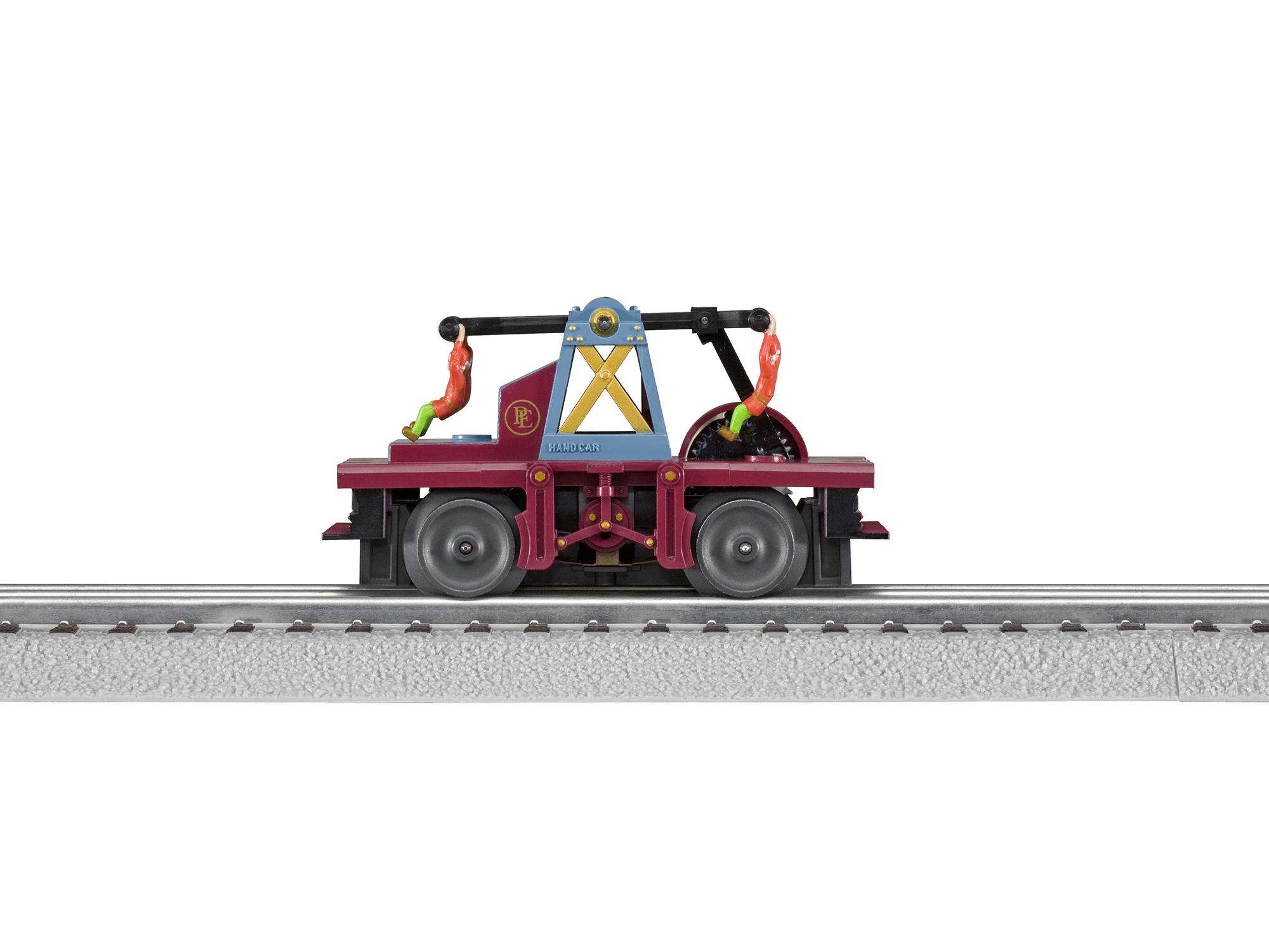 Lionel 628425 O Operating Handcar Conventional 3-Rail Polar Express 2 Elves