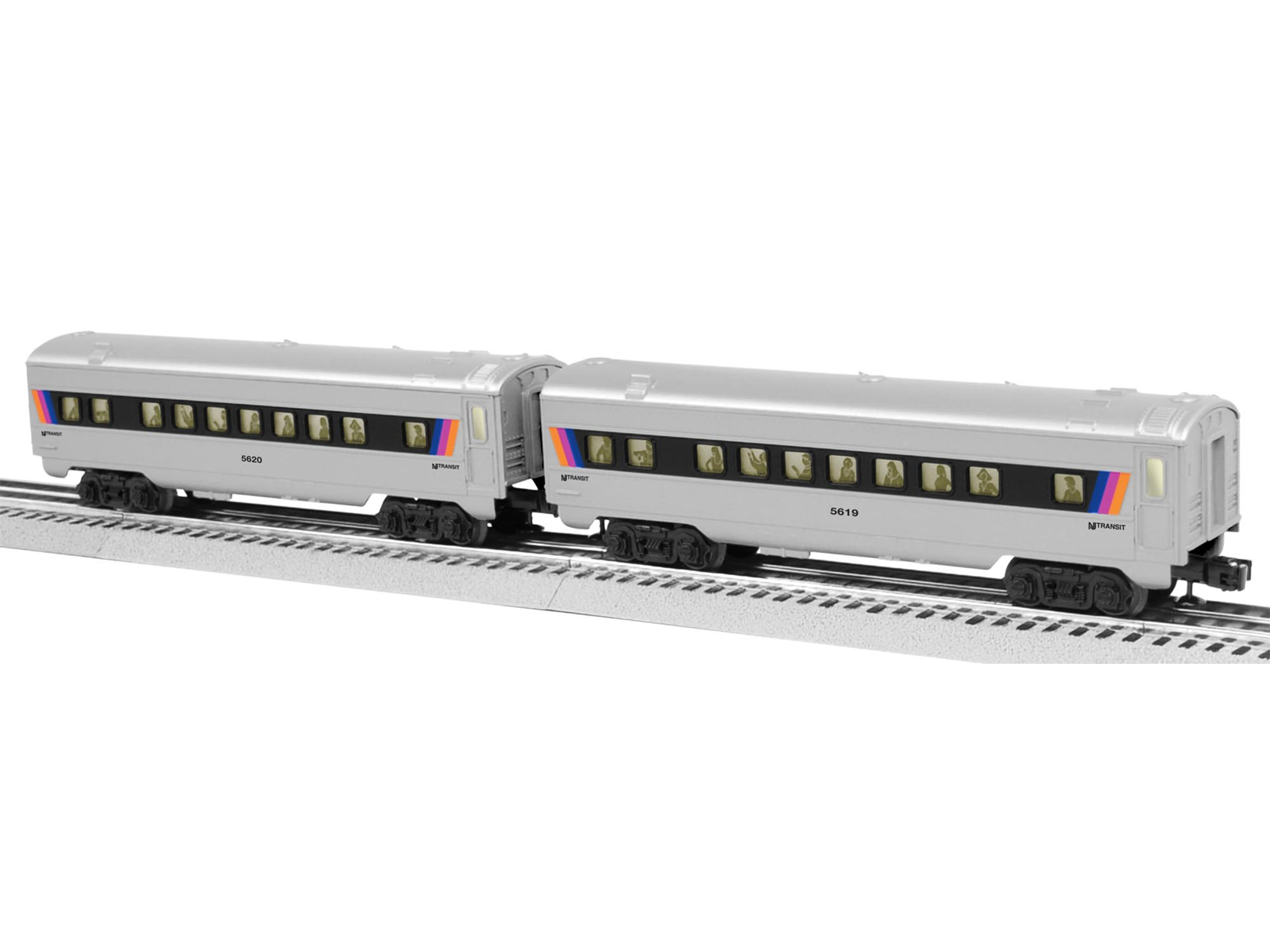 Nj Transit O27 Streamlined Passenger Car 2 Pack
