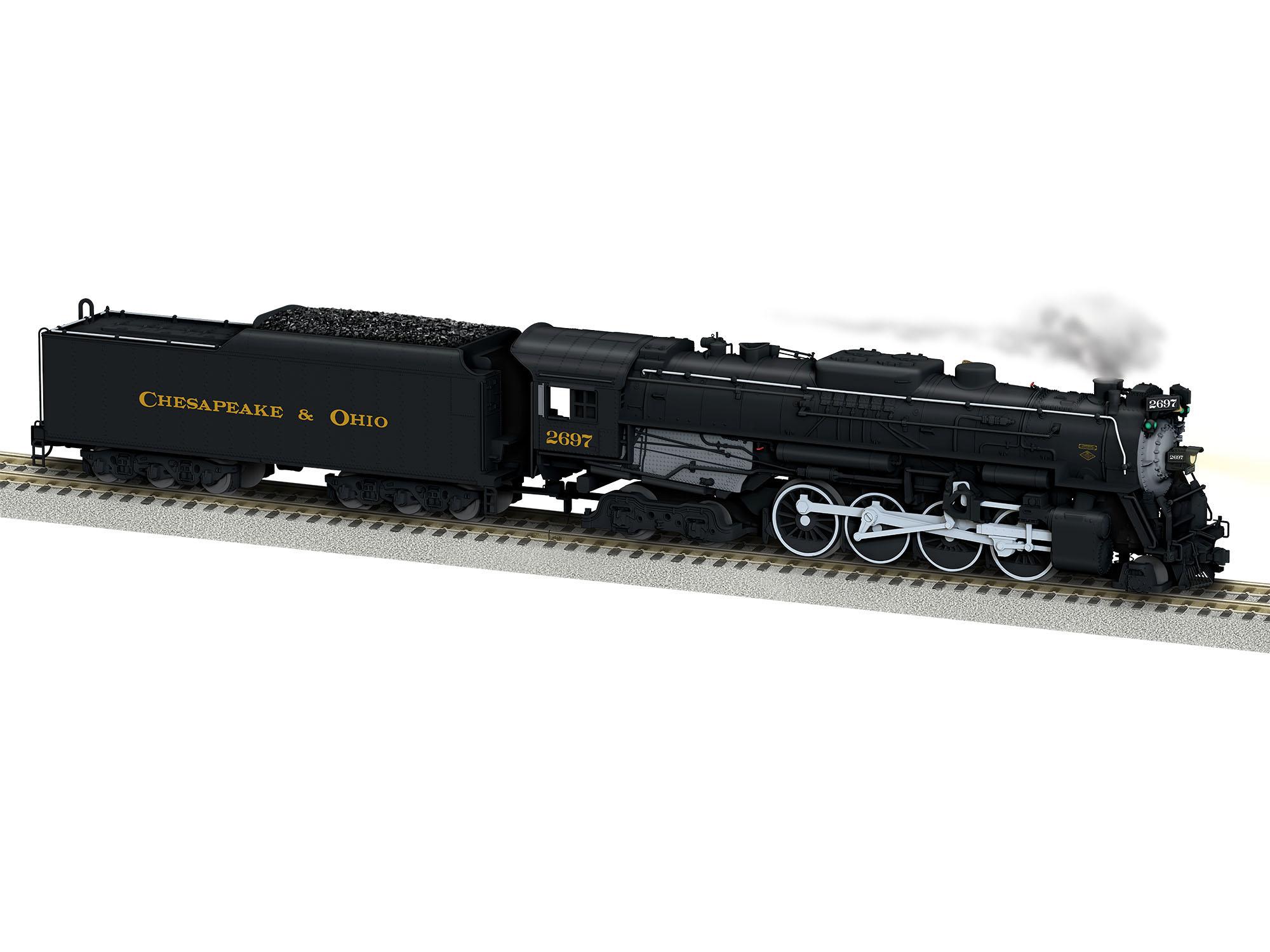 Lionel 644125 S AF Berkshire w/Legacy Chesapeake & Ohio C&O #2697