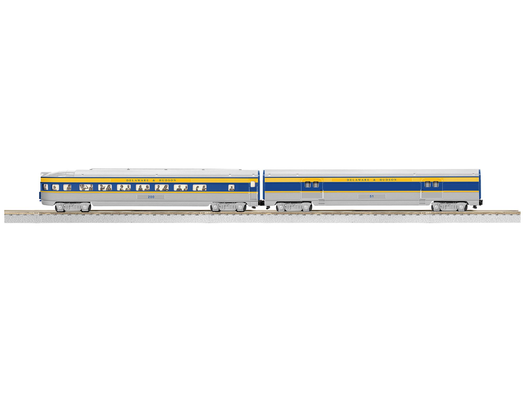 Lionel 647909 S AF Streamline Baggage/Observation, D&H LNL647909