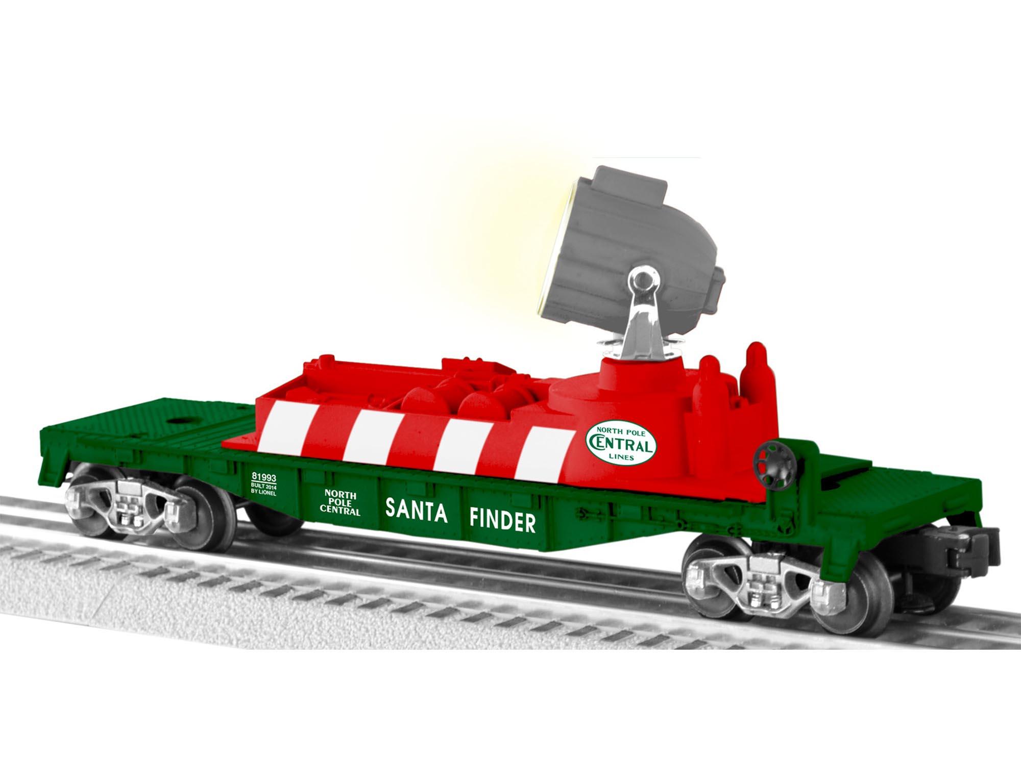 The Christmas Train Cast.North Pole Central Santa Finder Searchlight Car