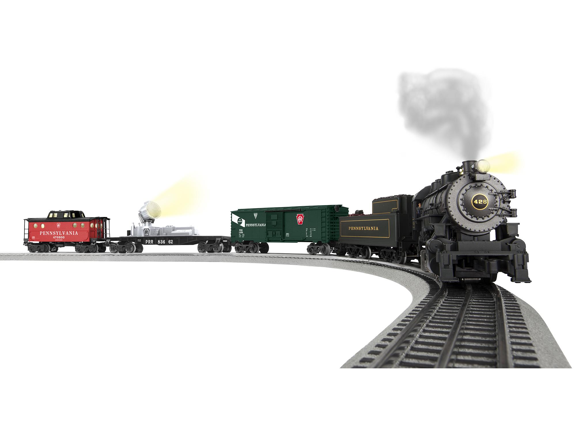 Lionel 683072 O Pennsylvania Keystone Special 3-Rail w/Sound & LionChief Remote & Bluetooth 0-8-0 3 Cars 434-683072