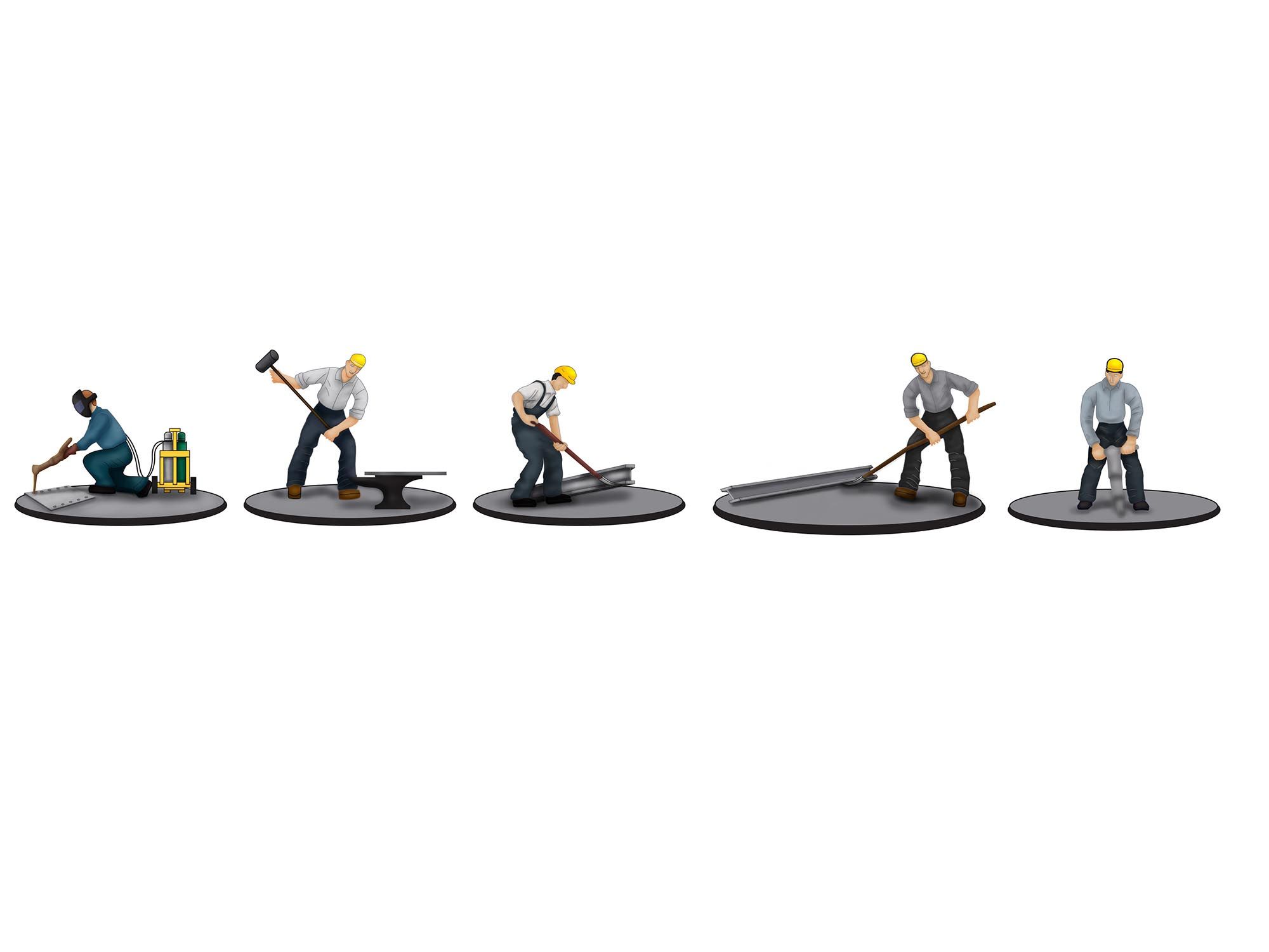LNL683168 Lionel O Iron Workers Figure Pack 434-683168