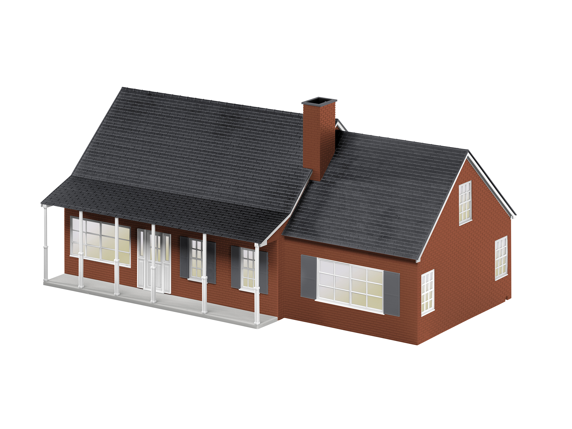 O Large Suburban House/Plug-Expand-Play