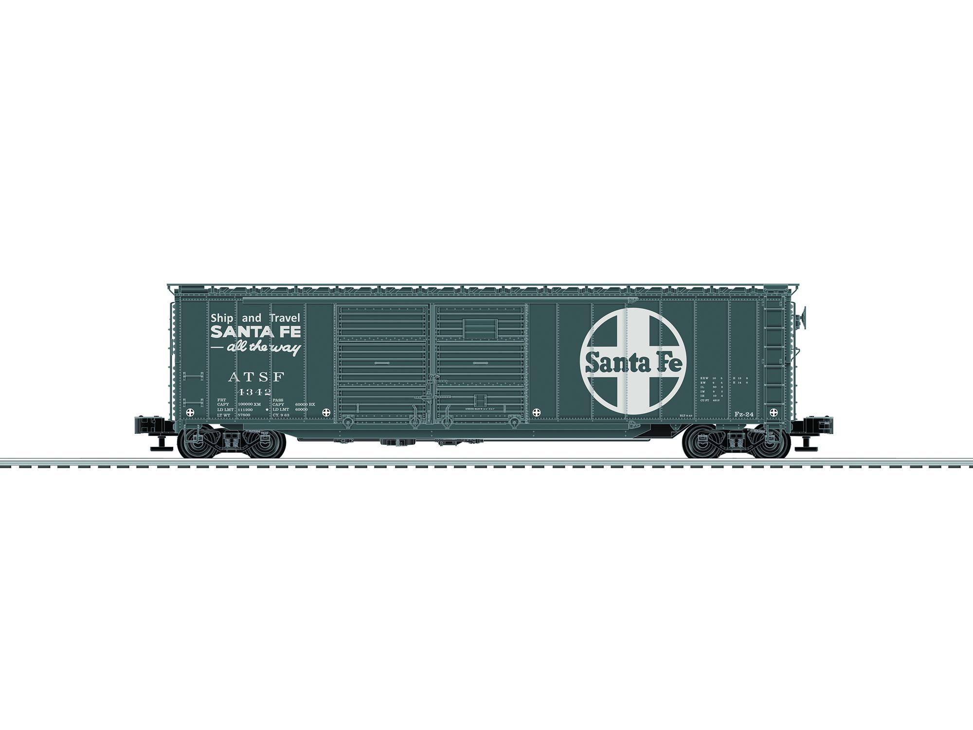 LNL683561 Lionel O Express Boxcar Santa Fe 434-683561