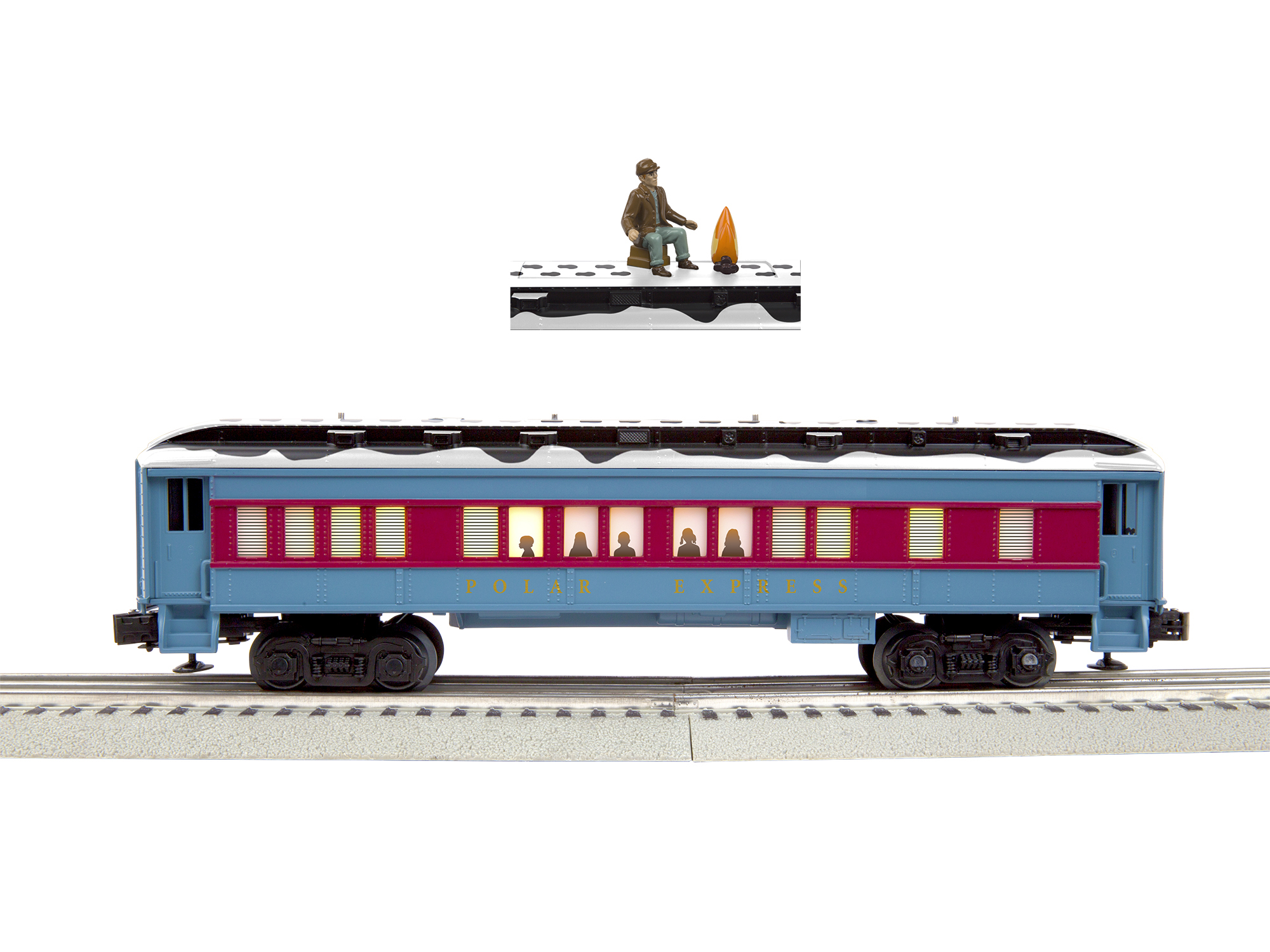 Lionel 684602 O Disappearing Hobo Car Polar Express Polar Express