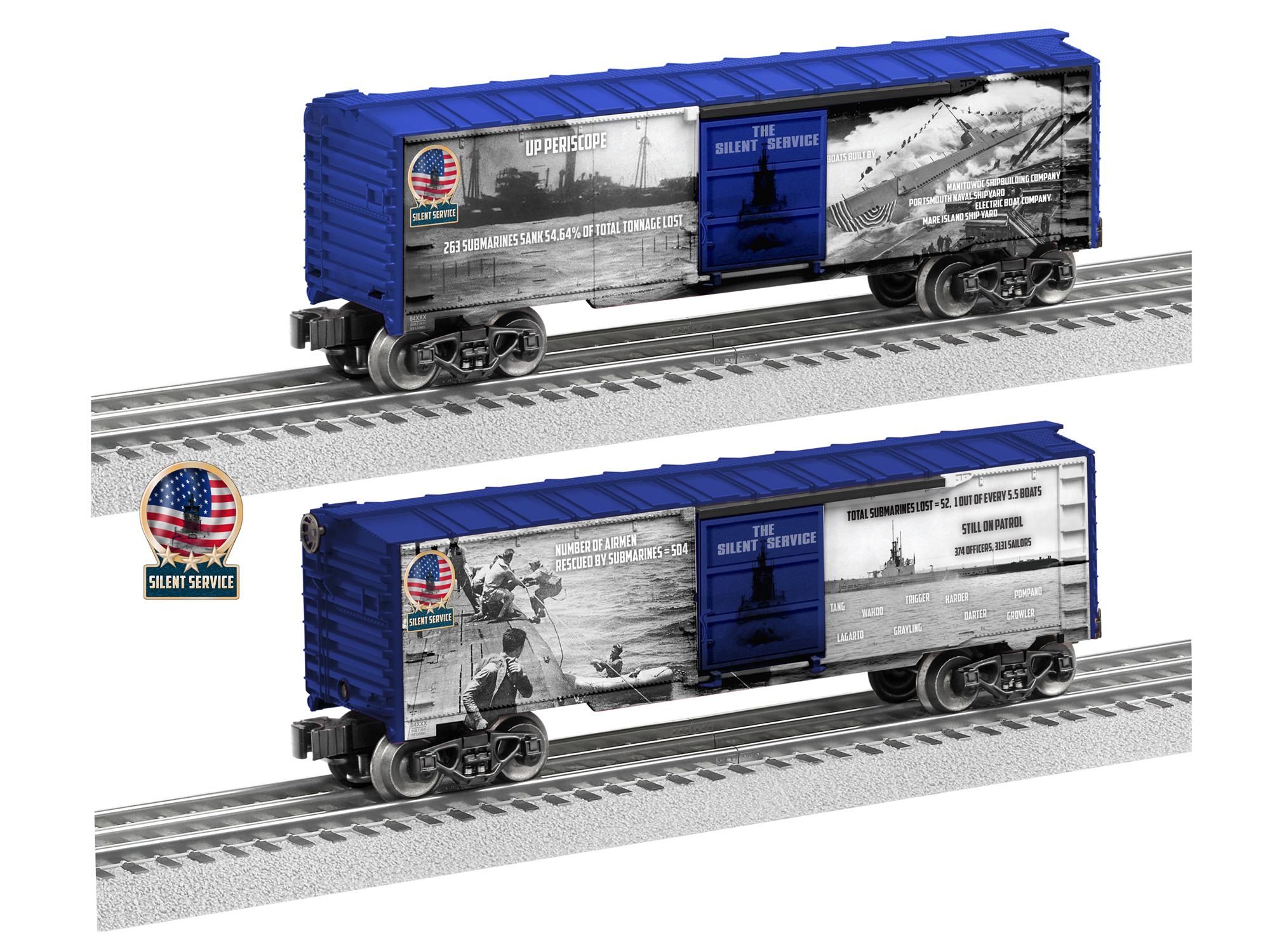 LNL684668 Lionel O Silent Service Boxcar 434-684668