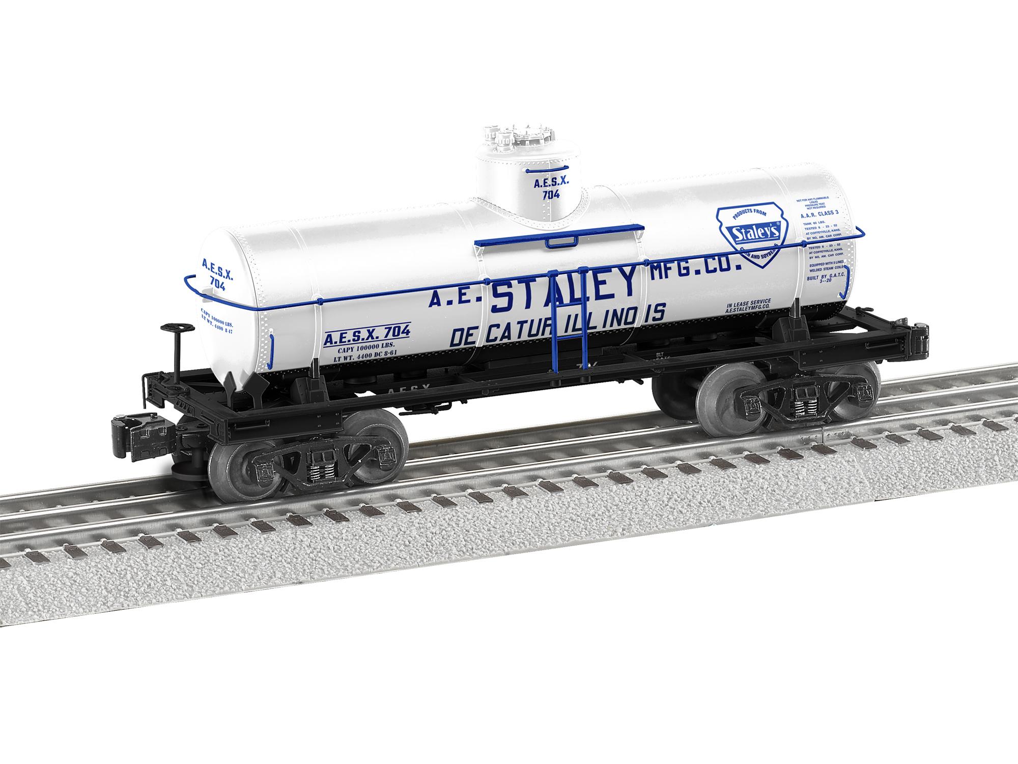LNL684804 Lionel O 8,000 Gallon Tank, AE Staley #704
