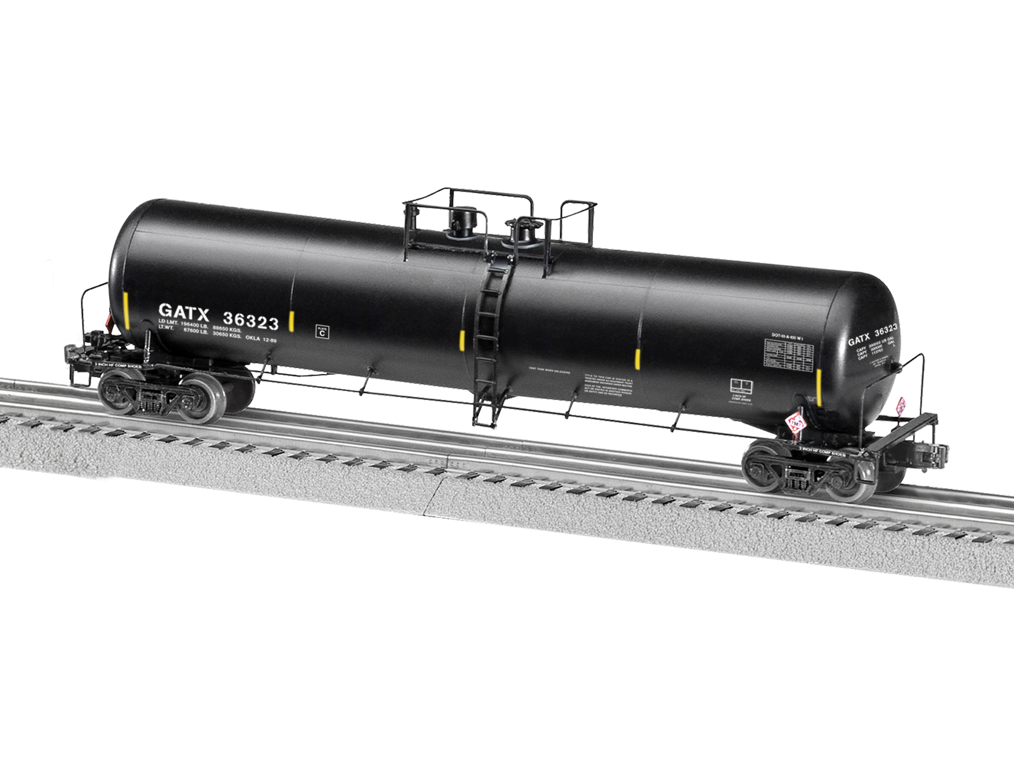 O 30K Gallon Tank w/Sounds, GATX #36323