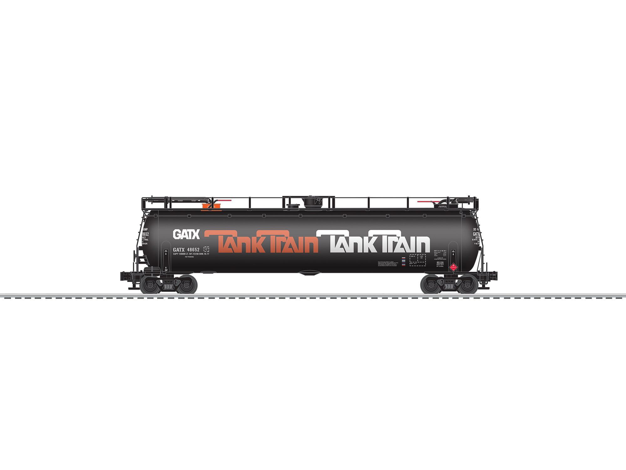 LNL685126 Lionel O Tank Train orange #1 434-685126