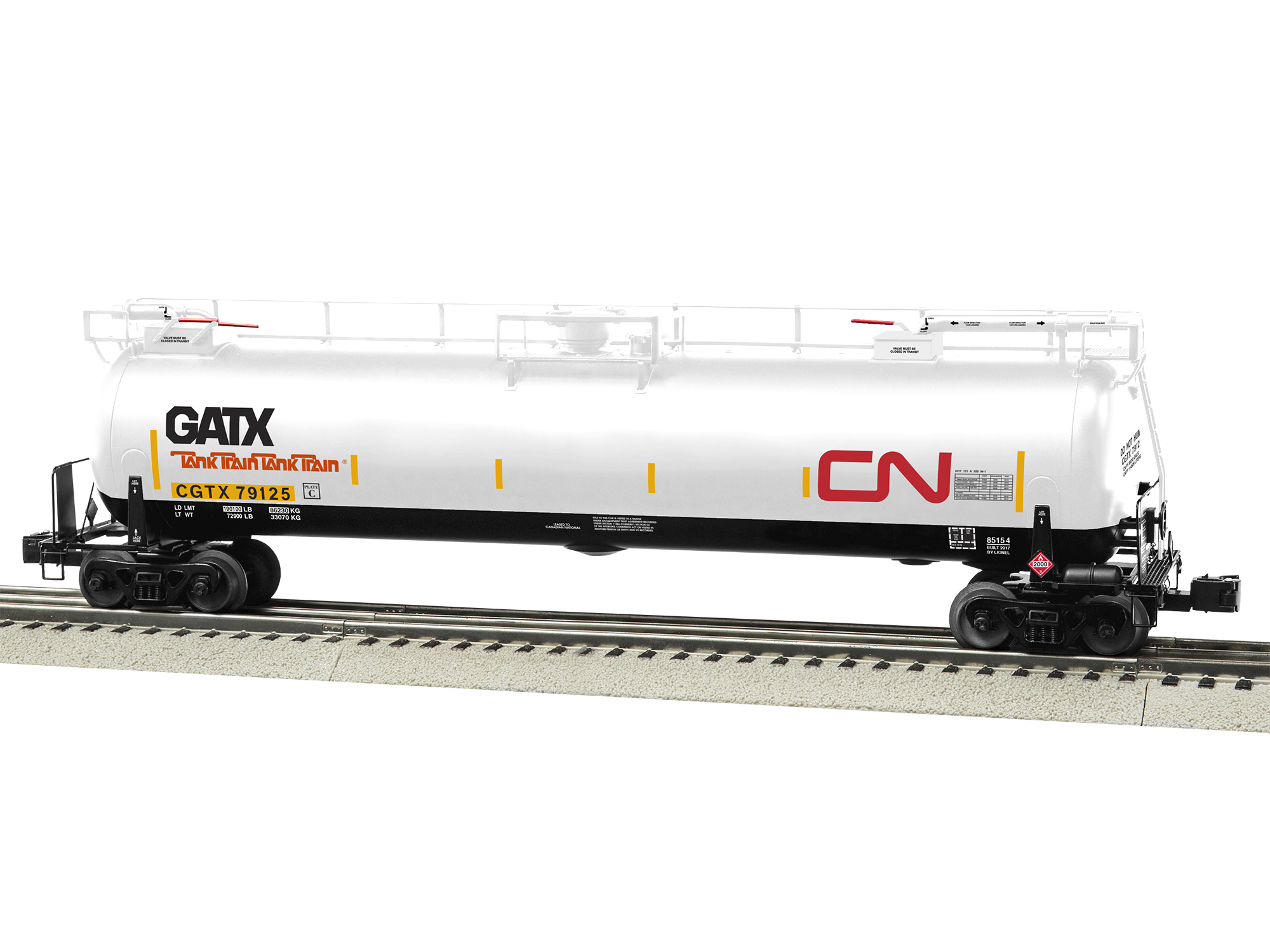 LNL685154 Lionel O TankTrain Intermediate Car, CN #5