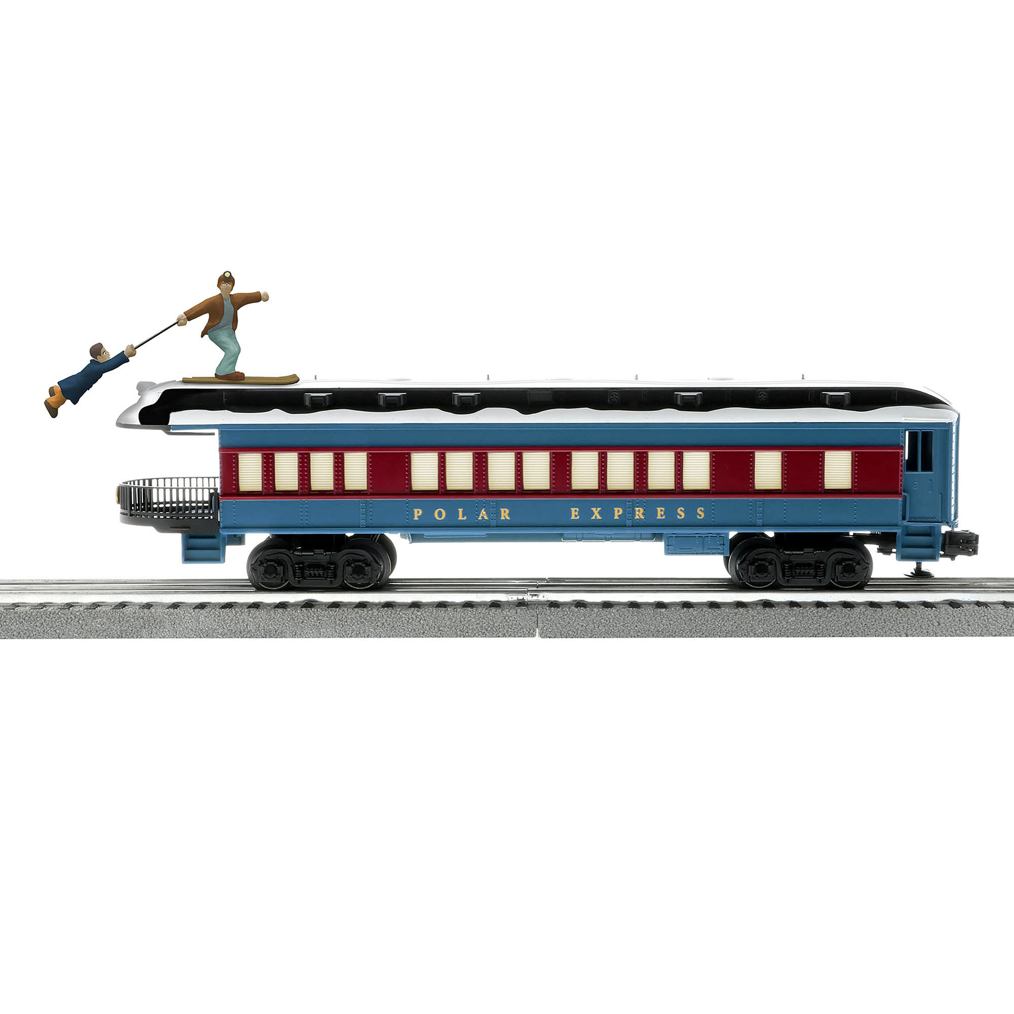 Lionel 685400 O Observation Car The Polar Express Skiing Hobo