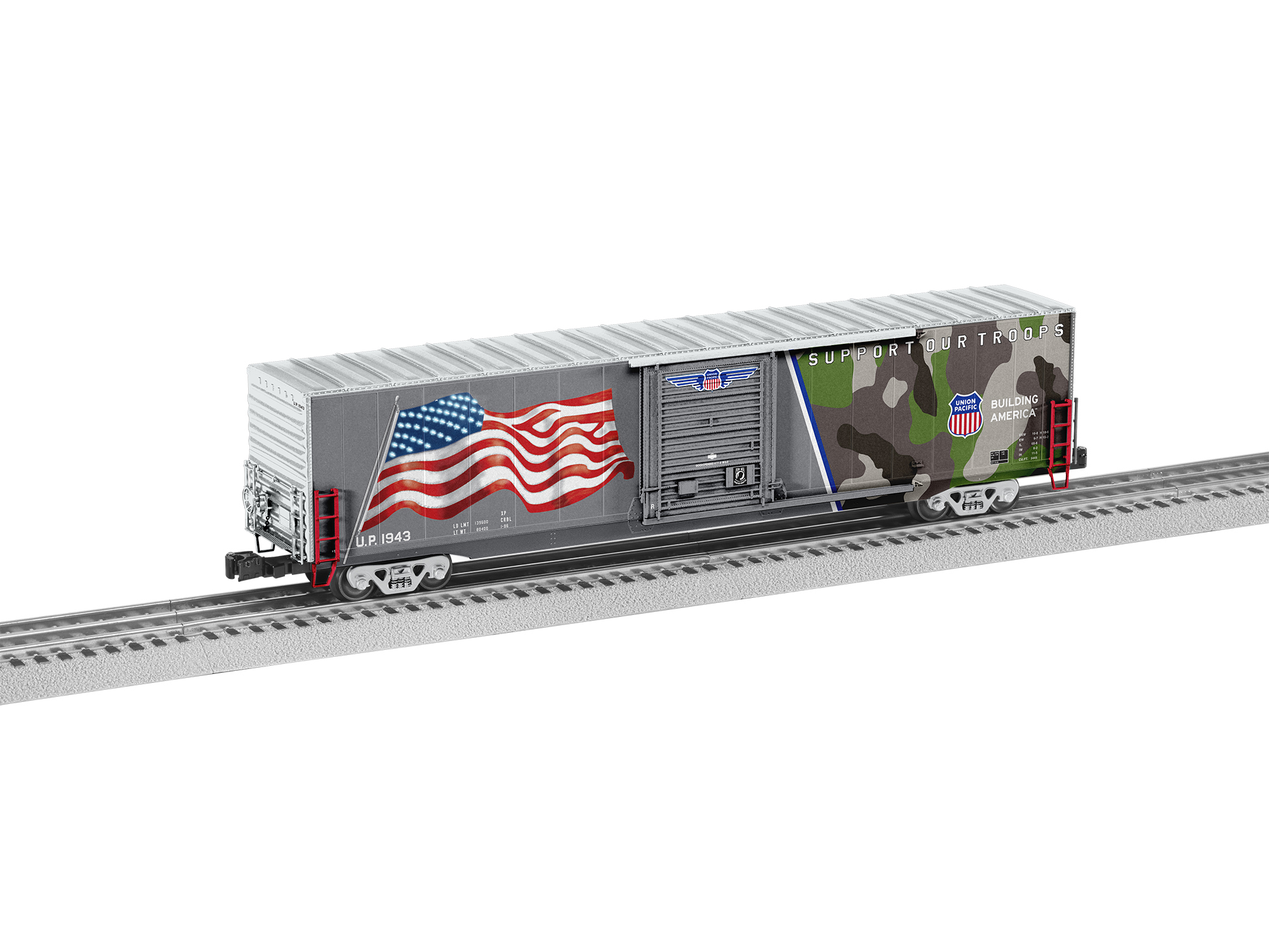 O Box w/LED, UP/Flag/Spirit of UP 1943
