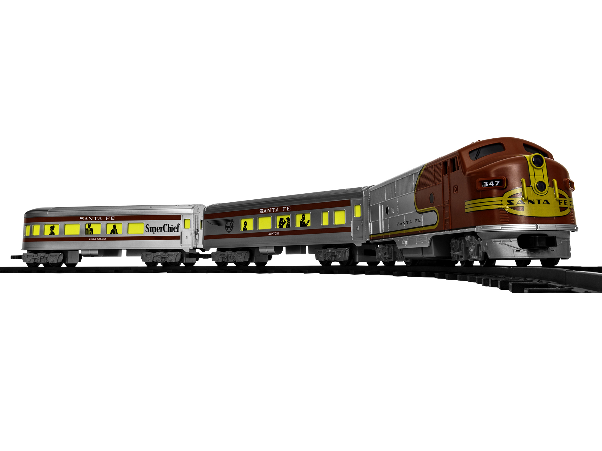 Lionel 711913 G Diesel Passenger Set Ready-to-Play Santa Fe F-Unit 2 Cars 434-711913